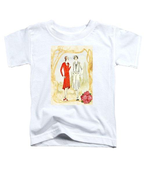 Art Deco Fashion Girls Toddler T-Shirt
