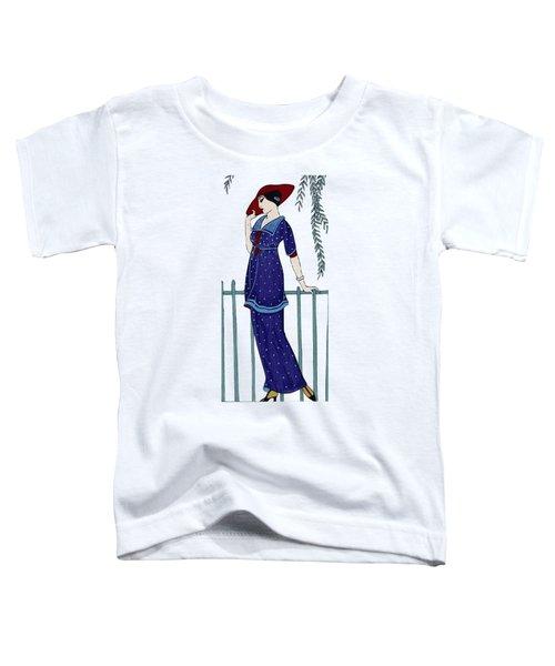 Art Deco Fashion Polka Dots Toddler T-Shirt