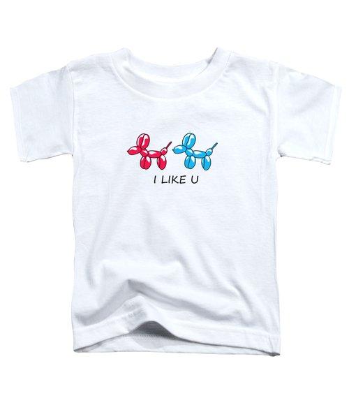 I Like You 2 Toddler T-Shirt by Mark Ashkenazi