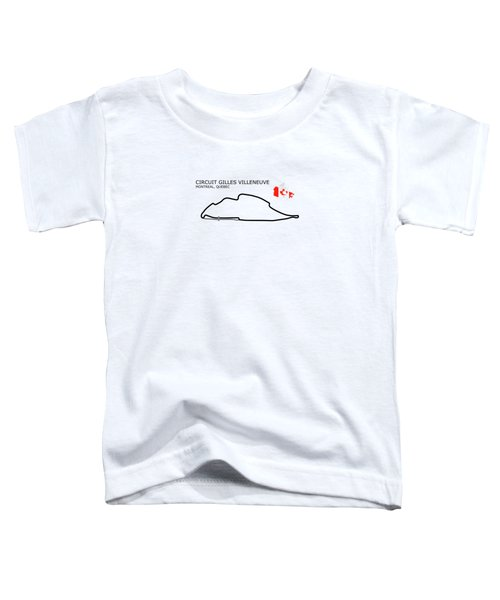 Circuit Gilles Villeneuve Toddler T-Shirt