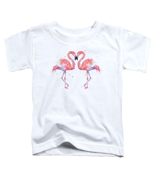 Flamingo Love Watercolor Toddler T-Shirt