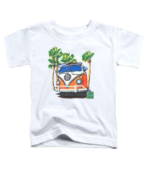 Volkswagen  Vw Bus Surfing Hippie Camper Toddler T-Shirt