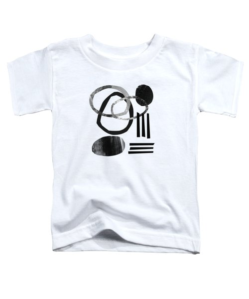 Black And White- Abstract Art Toddler T-Shirt