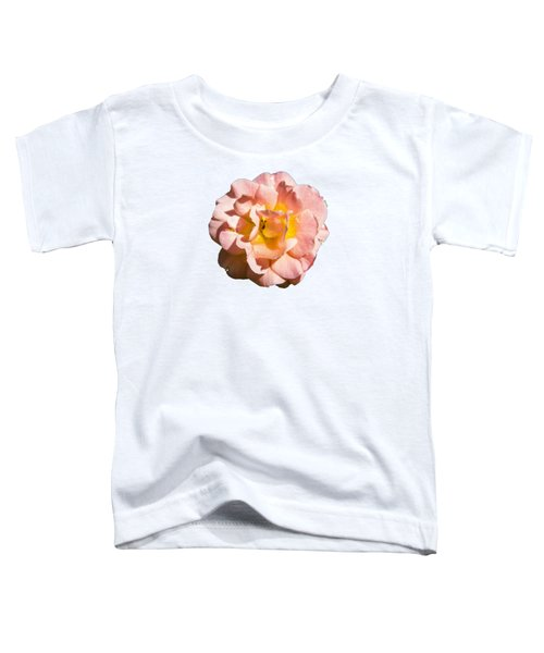 Peach Rose Toddler T-Shirt by Brian Manfra