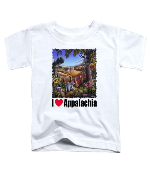 I Love Appalachia - Coon Gap Holler Country Farm Landscape 1 Toddler T-Shirt