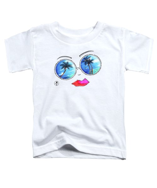 Tropical Reflection Pop Art Painting From The Aroon Melane 2015 Collection By Madart Toddler T-Shirt