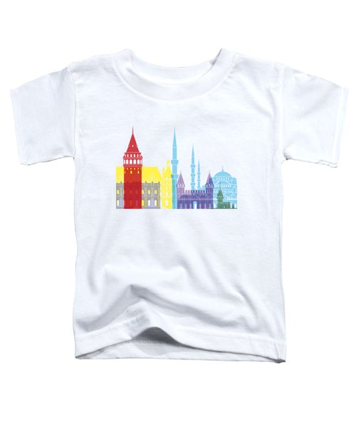 Istanbul Skyline Pop Toddler T-Shirt by Pablo Romero