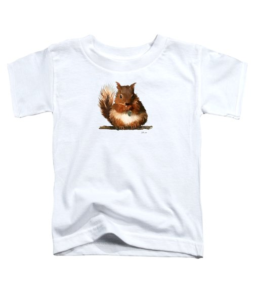 Young Squirrel Toddler T-Shirt by Bamalam  Photography