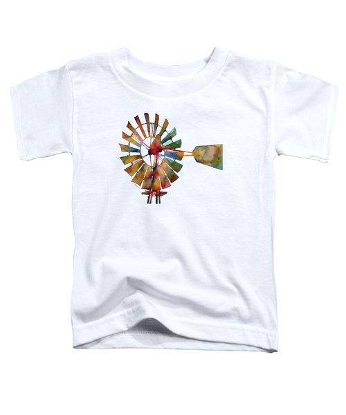 Windmill Toddler T-Shirt by Hailey E Herrera