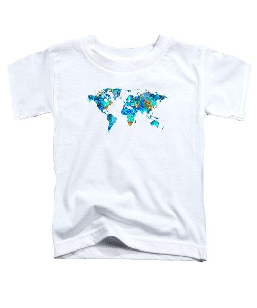 World Map 22 Art By Sharon Cummings Toddler T-Shirt