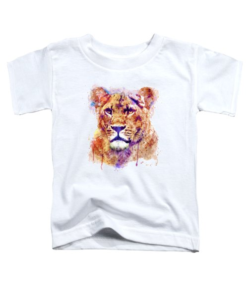 Lioness Head Toddler T-Shirt by Marian Voicu