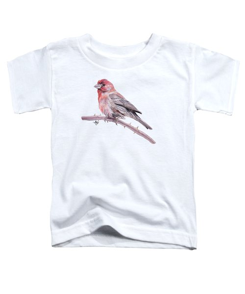 House Finch Toddler T-Shirt by Angeles M Pomata