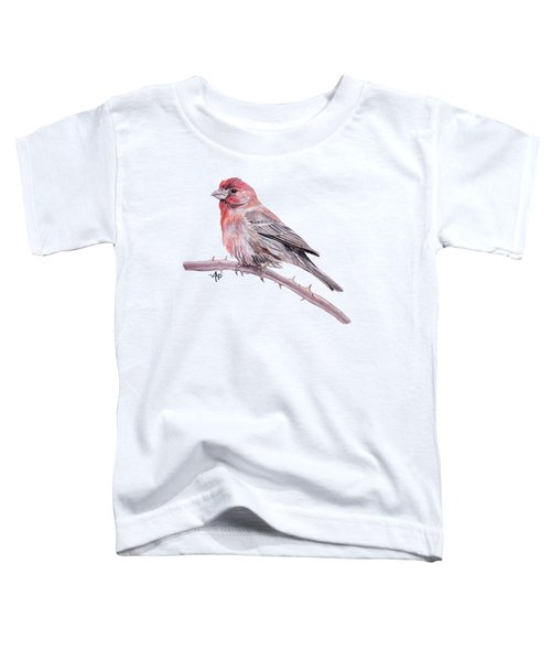 House Finch Watercolor Toddler T-Shirt