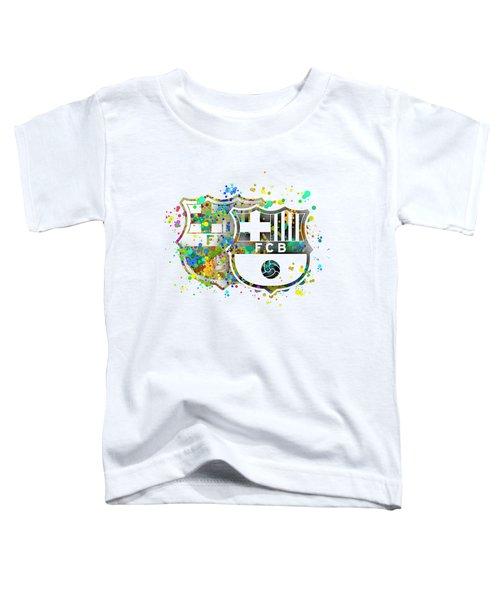 Tribute To F C Barcelona 7 Toddler T-Shirt by Alberto RuiZ