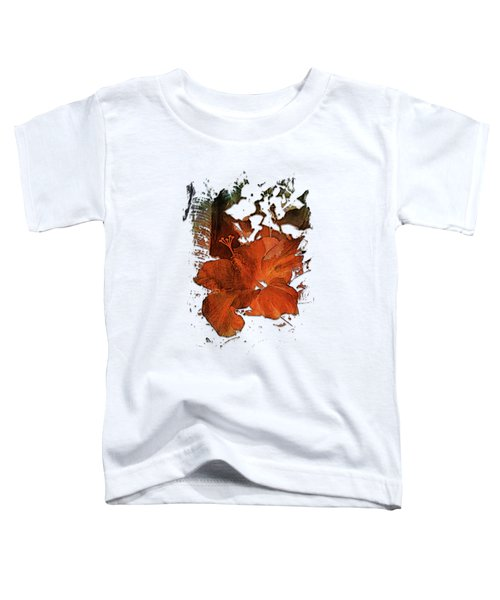 Hibiscus S D Z 2 Earthy Rainbow 3 Dimensional Toddler T-Shirt