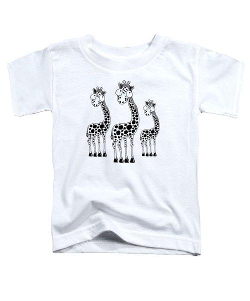 Fudge The Giraffe Toddler T-Shirt by Lucia Stewart