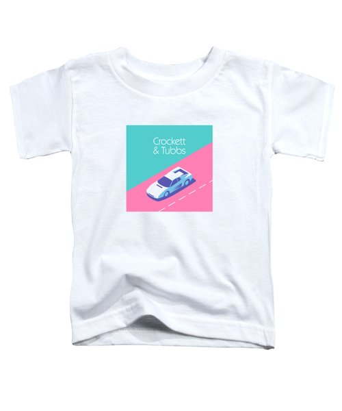 Miami Vice Crockett Tubbs - Aqua Toddler T-Shirt by Ivan Krpan