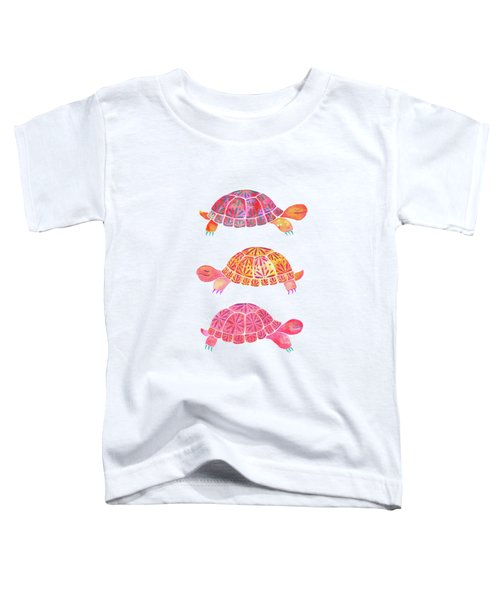 Turtles Toddler T-Shirt by Laura Vitali