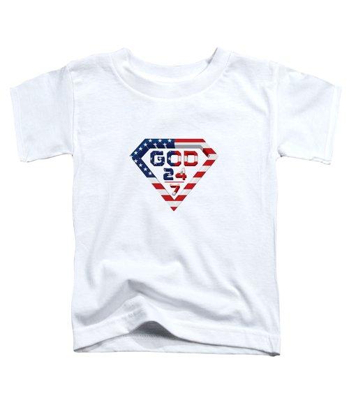 3 D Patriotic Design Toddler T-Shirt by Roshanda Prior