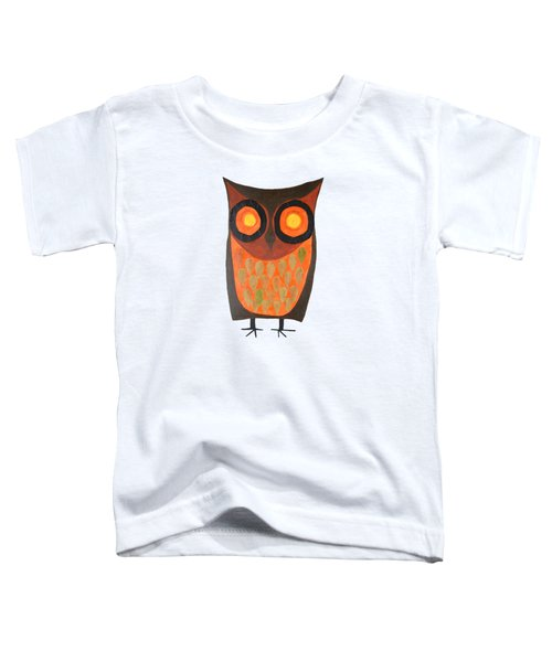 Give A Hoot Orange Owl Toddler T-Shirt