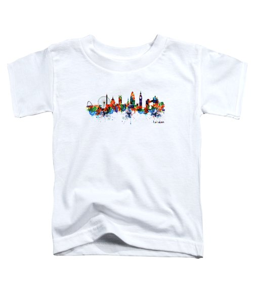 London Watercolor Skyline Silhouette Toddler T-Shirt