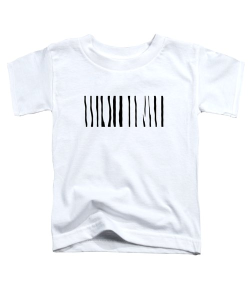 Organic No 12 Black And White Line Abstract Toddler T-Shirt