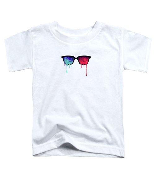3d Psychedelic / Goa Meditation Glasses Toddler T-Shirt