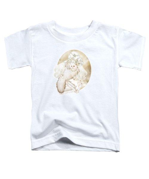 Cat In Fancy Bridal Hat Toddler T-Shirt
