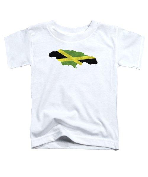 Jamaica Map Art With Flag Design Toddler T-Shirt