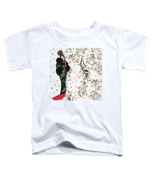 Asian Art Deco Beauty Toddler T-Shirt
