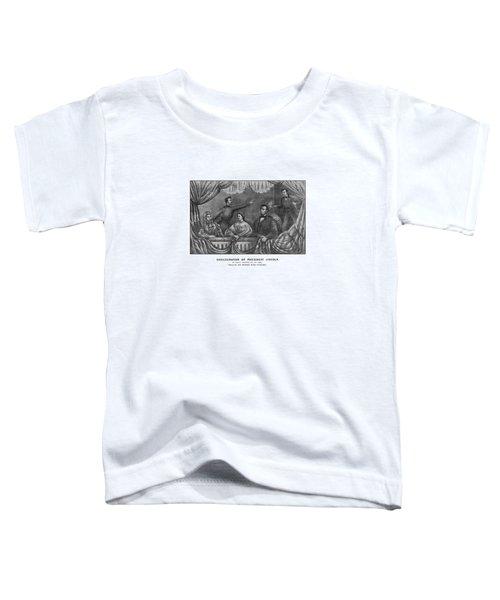 Assassination Of President Lincoln Toddler T-Shirt