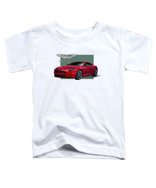 Aston Martin  D B S  V 12  With 3 D Badge  Toddler T-Shirt by Serge Averbukh