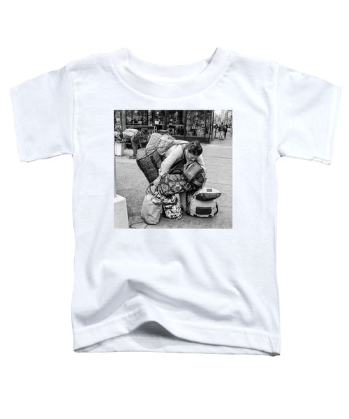Toddler T-Shirt featuring the photograph Bag Lady by Eric Lake