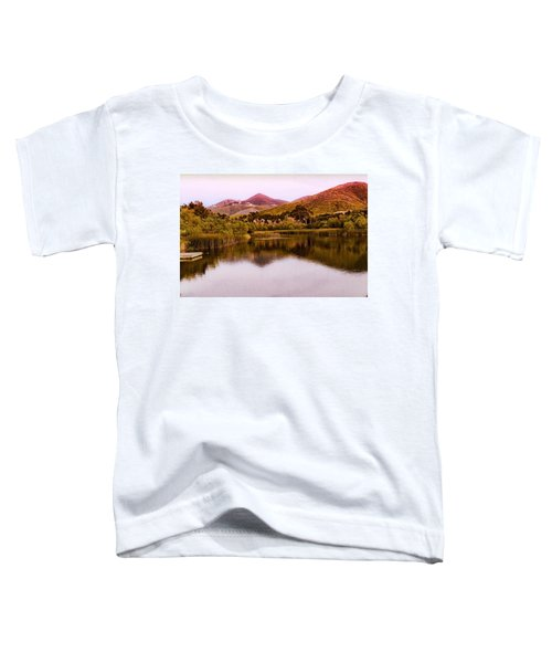 Toddler T-Shirt featuring the photograph At The Lake by Alison Frank
