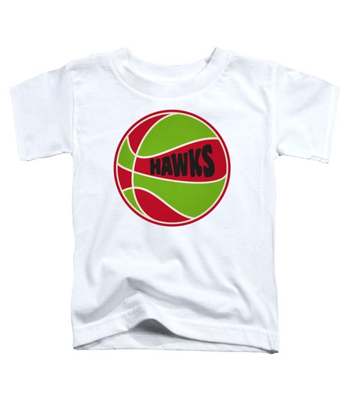 Atlanta Hawks Retro Shirt Toddler T-Shirt by Joe Hamilton
