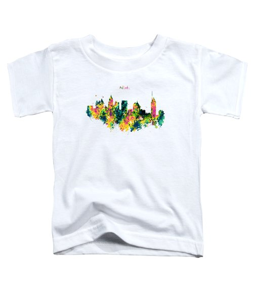 Atlanta Watercolor Skyline  Toddler T-Shirt