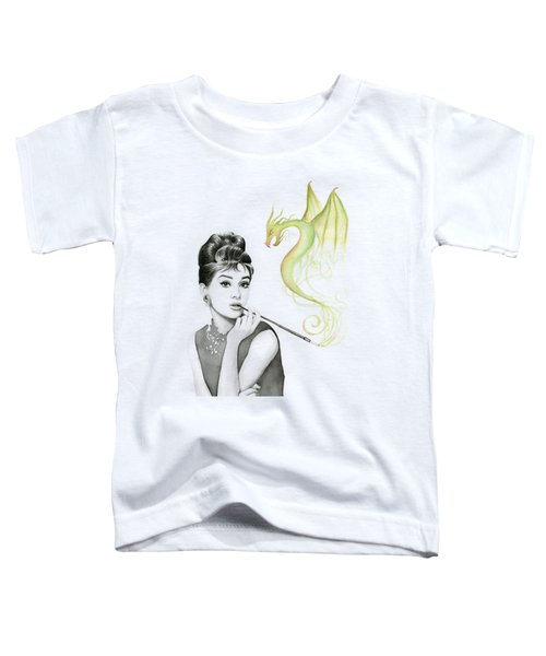 Audrey And Her Magic Dragon Toddler T-Shirt by Olga Shvartsur