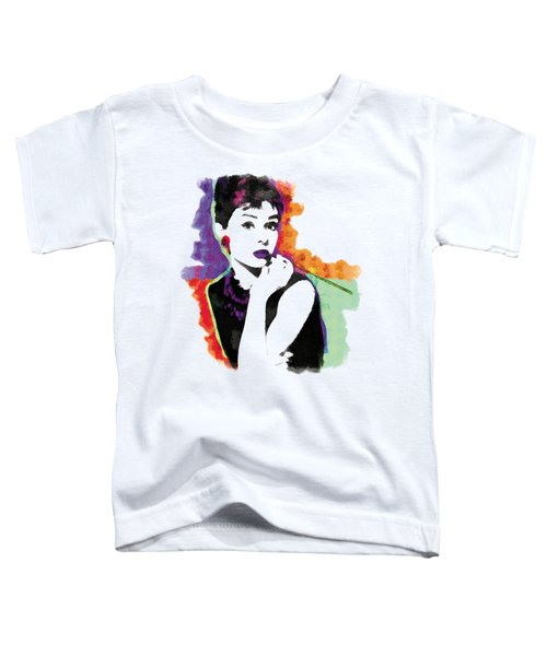 Audrey Hepburn Pop-art Toddler T-Shirt by Magdalena Raszewska