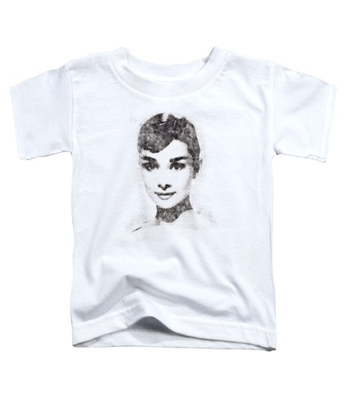 Audrey Hepburn Portrait 02 Toddler T-Shirt by Pablo Romero