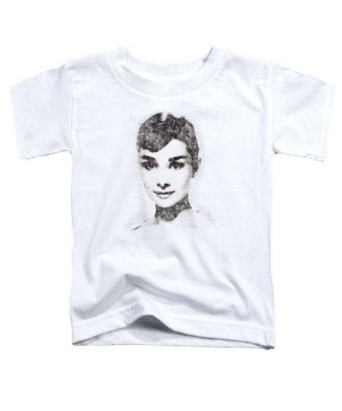 Audrey Hepburn Portrait 02 Toddler T-Shirt