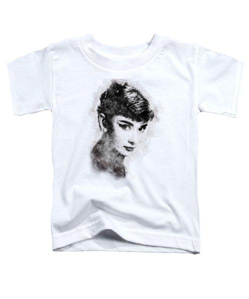 Audrey Hepburn Portrait 03 Toddler T-Shirt
