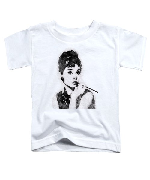 Audrey Hepburn Portrait 04 Toddler T-Shirt