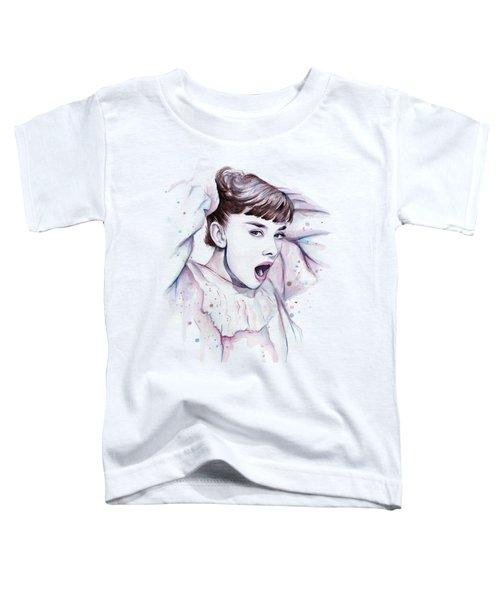 Audrey - Purple Scream Toddler T-Shirt by Olga Shvartsur