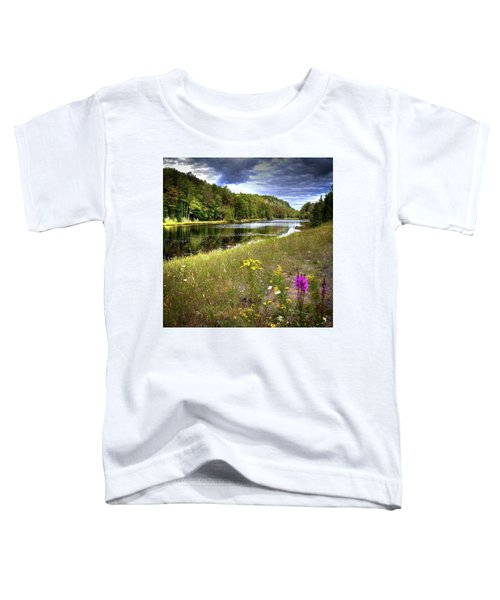 Toddler T-Shirt featuring the photograph August Flowers On The Pond by David Patterson