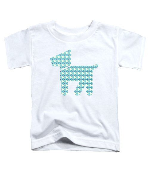 Aussie Dog Pattern Toddler T-Shirt