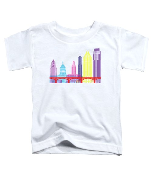 Austin Skyline Pop Toddler T-Shirt by Pablo Romero
