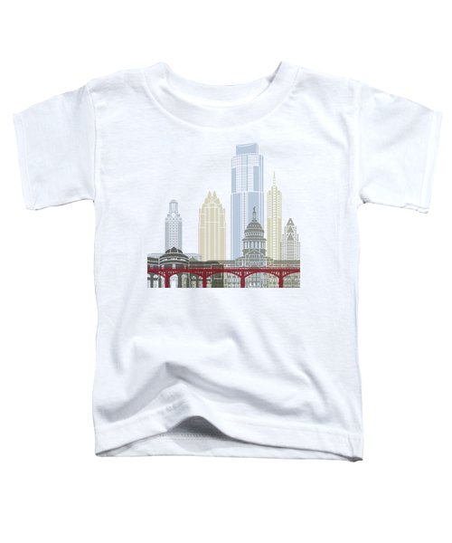 Austin Skyline Poster Toddler T-Shirt by Pablo Romero