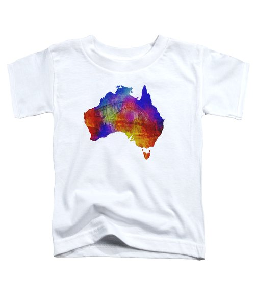 Australia And Sydney Harbour Bridge By Kaye Menner Toddler T-Shirt