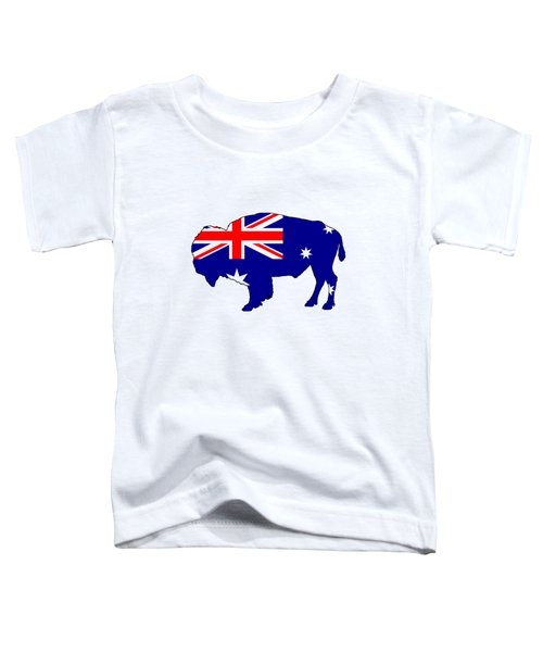 Australian Flag - Bison Toddler T-Shirt by Mordax Furittus