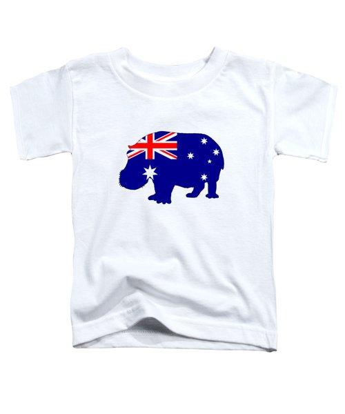 Australian Flag - Hippopotamus Toddler T-Shirt by Mordax Furittus